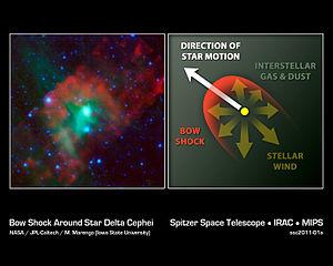 Delta Cephei - Bow shock around Delta Cephei