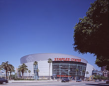 exterior view of Staples Center