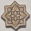 Star tile from Iran, Ilkhanid period, Honolulu Museum of Art II.JPG