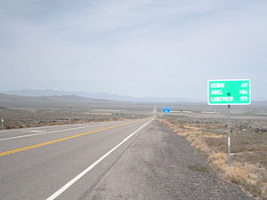 Nevada State Route 140 - Westbound SR 140 near junction US 95