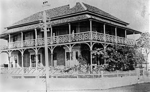Joseph Bancroft - Home of Dr. Joseph Bancroft in Ann Street, circa 1882
