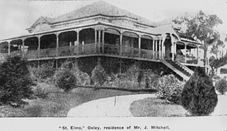 Oxley, Queensland - James Mitchell's residence, 1906