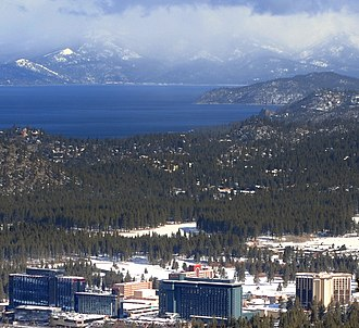 Sacramento metropolitan area - Stateline is an important Tahoe resort town on the shores of Lake Tahoe.