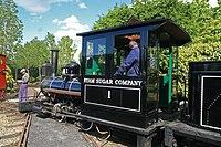 Statfold Barn Railway - recently restored locomotive (geograph 4530352).jpg
