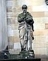 Statue of Hippocrates (b 460 - d 370 BCE). Both by Alexander Handyside Ritchie (1804-1870). Façade of the Royal College of Physicians of Edinburgh, Queen Street, Edinburgh.jpg
