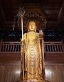 Statue of Ksitigarbha (地藏; Dizang) in the Bell Tower (鐘樓 or 钟楼) of Qita Temple (七塔寺) in Yingzhou, Ningbo, China.jpg