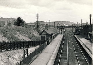 Staveley Town railway station Former railway station in Derbyshire, England