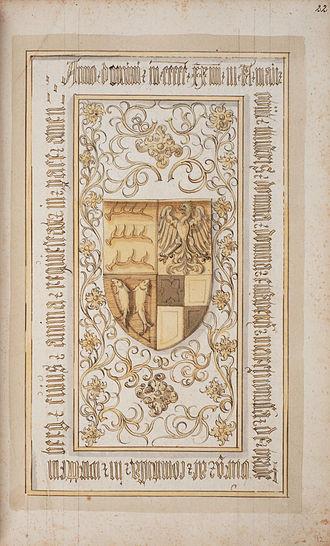 Elisabeth of Brandenburg, Duchess of Württemberg - Epitaph in the manuscript Memoriae posteritatique inclytae domus Wirtembergicae sacrum of 1583