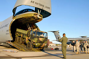 Stewart Air National Guard Base - 105th Airlift Wing unloading a C-5 Galaxy at Stewart ANGB