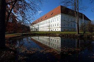 Viktring Abbey church building in Klagenfurt, Austria