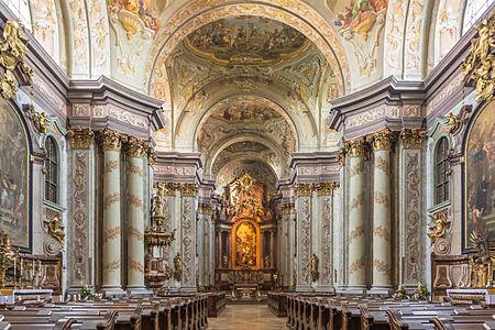 Interior of of Herzogenburg Abbey Church, Lower Austria