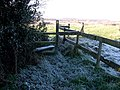 Stile on footpath, Cliff - geograph.org.uk - 1082372.jpg