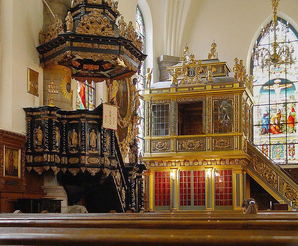 Stockholm-Tyska-Kyrkan-(Altar,Königsloge)