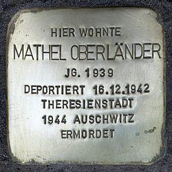 Stolperstein.wilmersdorf.hohenzollerndamm 4.mathel oberländer.4894