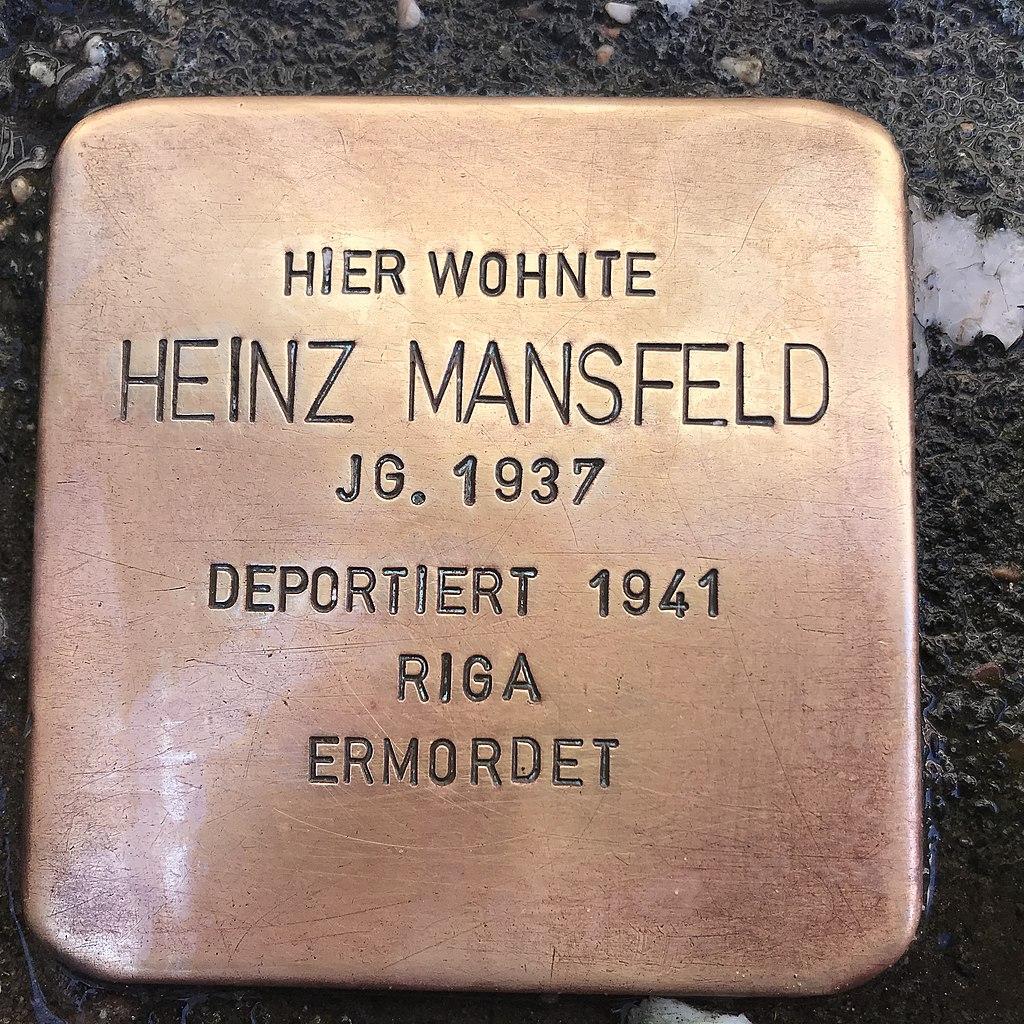 Stolperstein. Heinz Mansfeld in Lüchow (Wendland).jpg