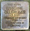 Stolperstein Karlsruhe Hannelore Billigheimer Jollystr 41 (fcm).jpg