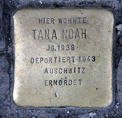 Photo of Tana Noah brass plaque