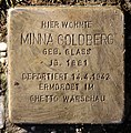 Stolperstein Stubenrauchstr 63 (Fried) Minna Goldberg.jpg