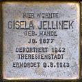 Stolperstein salzburg, Gisela Jellinek (Dreifaltigkeitsgasse 1).jpg