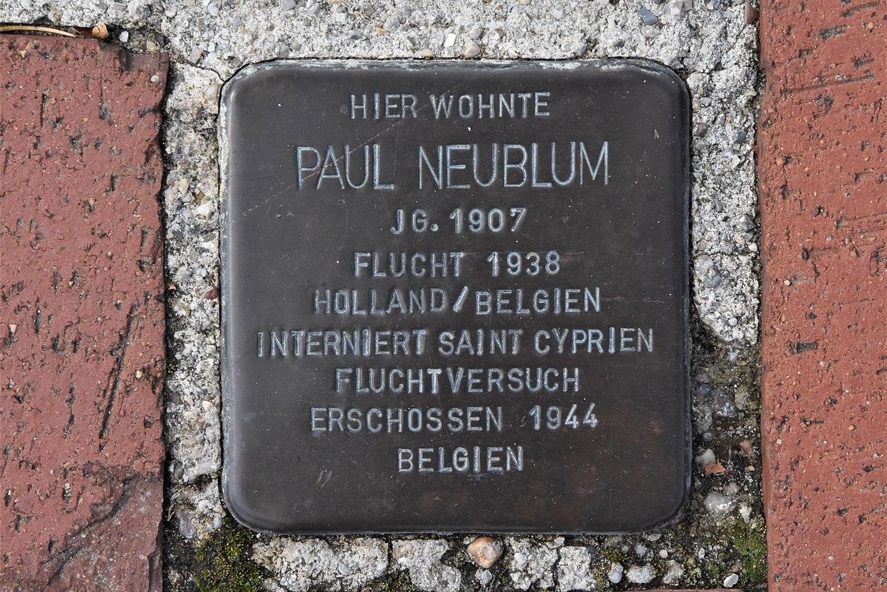 Stolperstein für Paul Neublum