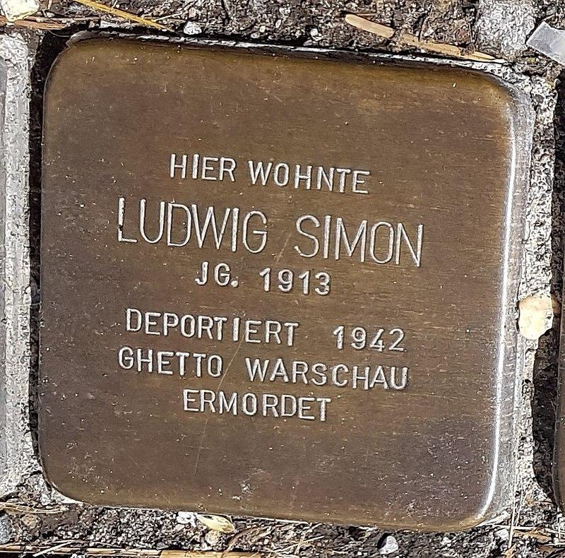 Stolperstein von Ludwig Simon