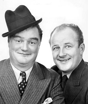 Stoopnagle and Budd - Stoopnagle (left) and Budd in an NBC publicity photo, 1936.