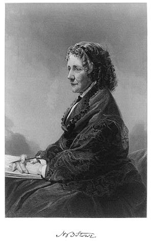 Uncle Tom's Cabin - An engraving of Harriet Beecher Stowe from 1872, based on an oil painting by Alonzo Chappel
