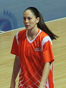 Portait de Sue Bird, portant un maillot de Ekaterinbourg