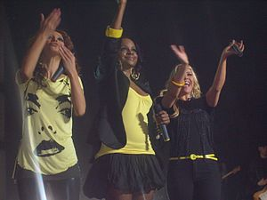 "About You Now - The Sugababes performing ""About You Now"" during their Change Tour in 2008."