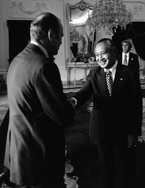 Indonesian invasion of East Timor - Gerald Ford and Suharto on 6 December 1975, one day before the invasion.
