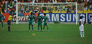 Africa Cup of Nations - Ghana's Sulley Muntari about to take a free kick at the 2008 tournament