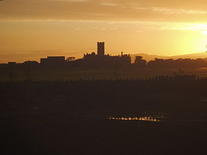 Castletown, Isle of Man - Sunset over King William's College