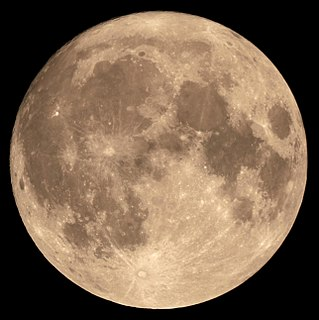 Full moon lunar phase: completely illuminated disc