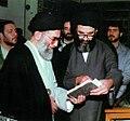 Supreme Leader Ali Khamenei in Ayatollah Mar'ashi Najafi Library (2).jpg