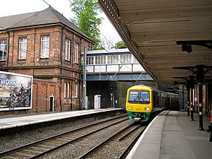 Sutton Coldfield railway station - The station platforms.