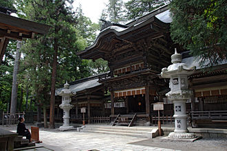 Suwa-taisha - The hei-haiden of the Harumiya, one of the two component shrines of the Lower Shrine or Shimosha