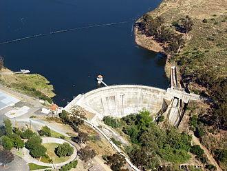 Sweetwater Dam - Sweetwater Dam and reservoir, May 2011