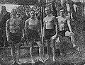 Swimmers of WKW Warszawa 1923 (Leonard Seweryński, Władysław Kuncewicz, Wiktor Szandorowski, Kazimierz Dobrowolski).jpg