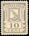 Switzerland Courrendlin 1901 revenue 10c - 1A.jpg