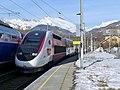 TGV 6436 Bourg-St-Maurice--Lille à Landry en Savoie (hiver 2019)..JPG