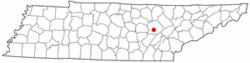 Location of Lake Tansi, Tennessee