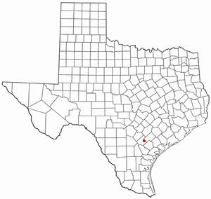 Runge, Texas - Image: TX Map doton Runge