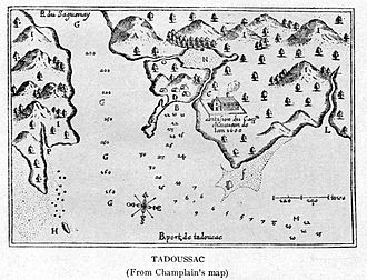 Tadoussac - Tadoussac in about 1612, illustrated by Samuel de Champlain