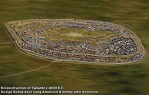 Settlements of the Cucuteni–Trypillia culture - Reconstruction of Trypillia mega-site Talianki 4000 B.C.