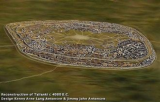 Settlements of the Cucuteni–Trypillia culture - Reconstruction of Trypillia mega-site Talianki 4000 B.C.