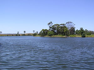 Johnsonville, Victoria - The Tambo River at the Johnsonville junction