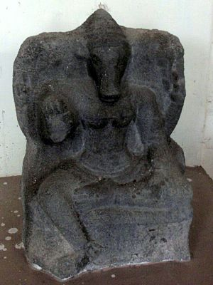 Varahi - Vaishanava images often depict Varahi holding all four attributes of Vishnu.