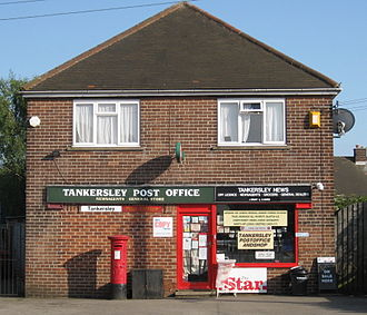 Tankersley, South Yorkshire - Image: Tankersley Post Office