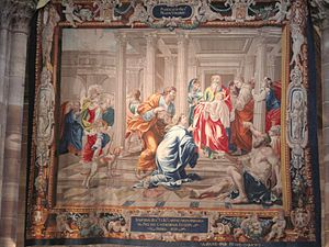 Candlemas - A tapestry from Strasbourg depicting the Purification of the Virgin Mary and the Presentation of Jesus at the Temple