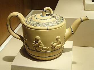 Josiah Wedgwood - Teapot, Wedgwood 'caneware', c. 1780-1785 - Nelson-Atkins Museum of Art